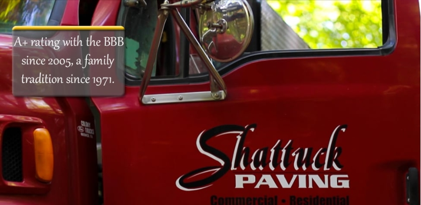 Shattuck Paving side truck sticker