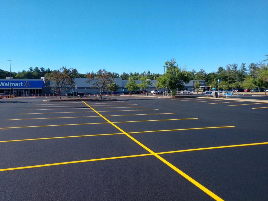 parking lot in Abington MA